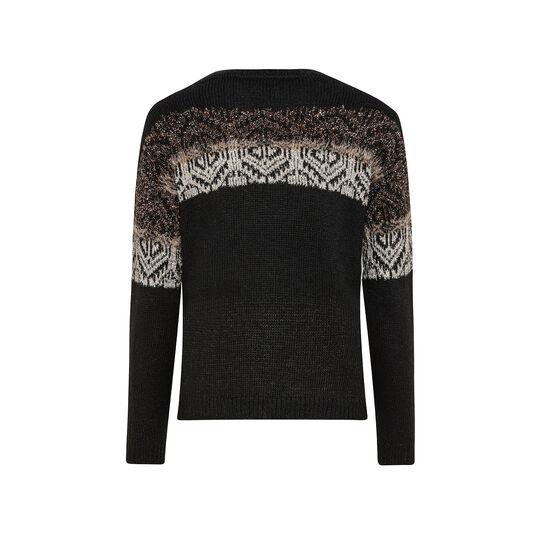 Lurex jacquard design sweater