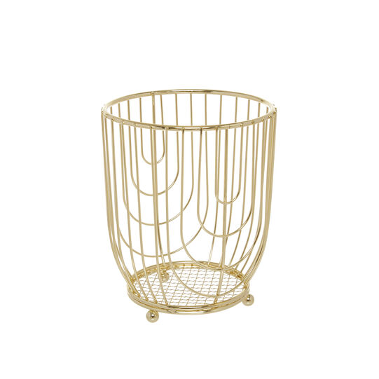 Gold wire utensil holder