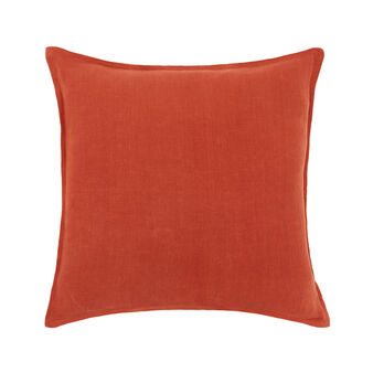 Solid colour 100% linen cushion 43x43cm