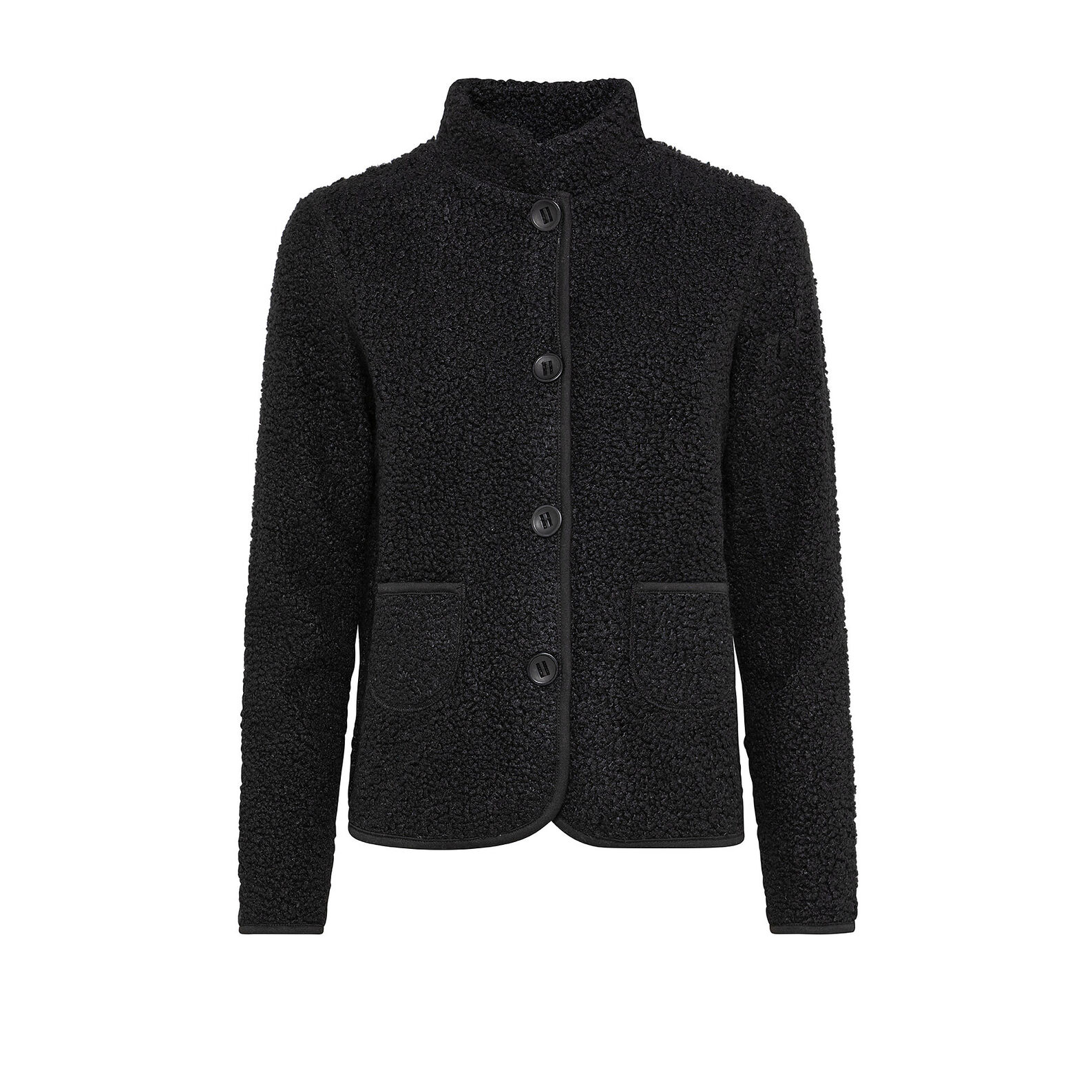 Teddy jacket with buttons