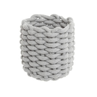 Basket in woven cotton blend
