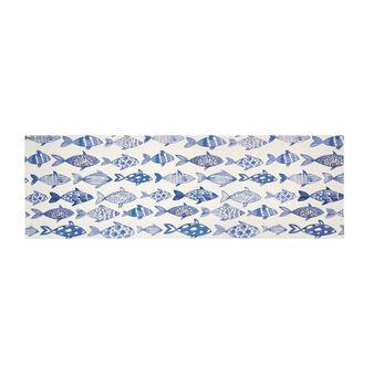 Tappeto da cucina stampa pesci