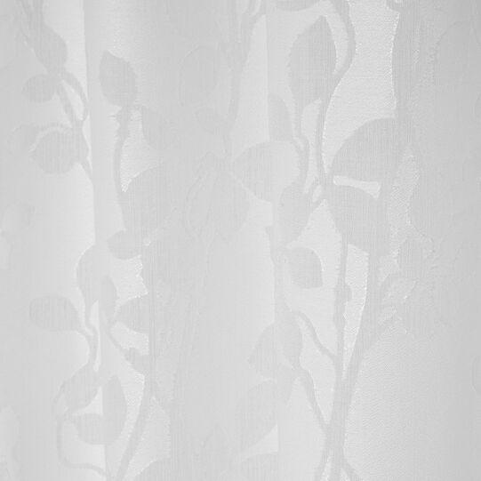 Floral devorè curtain with hidden loops