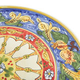 Serving plate with citrus decoration by Ceramiche Siciliane Ruggeri