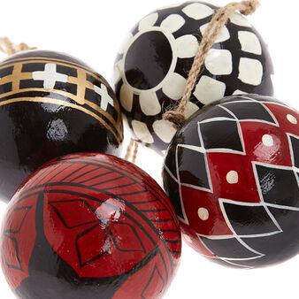 Handmade papier-mâché ball