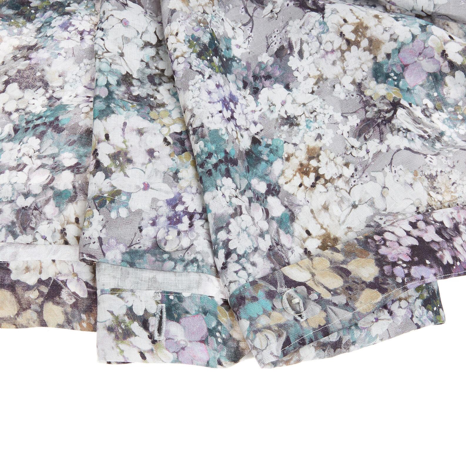 Copripiumino puro lino lavato fantasia a fiori