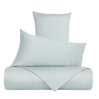 Solid colour duvet cover in Tencel satin