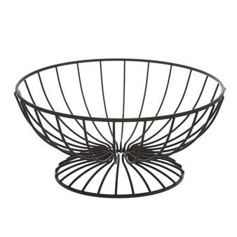 Enamelled metal wire fruit basket