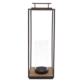 Lantern in wood and iron.