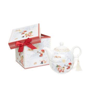 Tea for one porcellana decoro bimba vintage