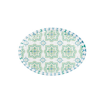 Oval melamine plate with Morocco decoration
