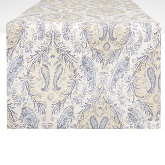 100% cotton table runner with soft paisley print