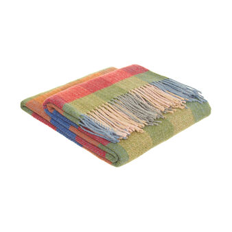100% cotton throw with fringe