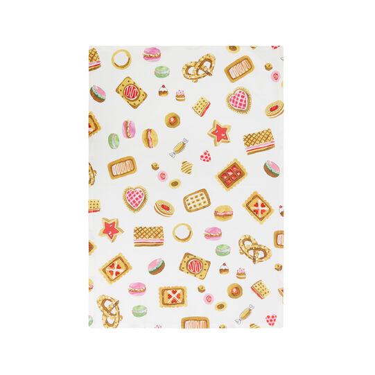 Set 2 strofinacci puro cotone stampa cookies by Sandra Jacobs design