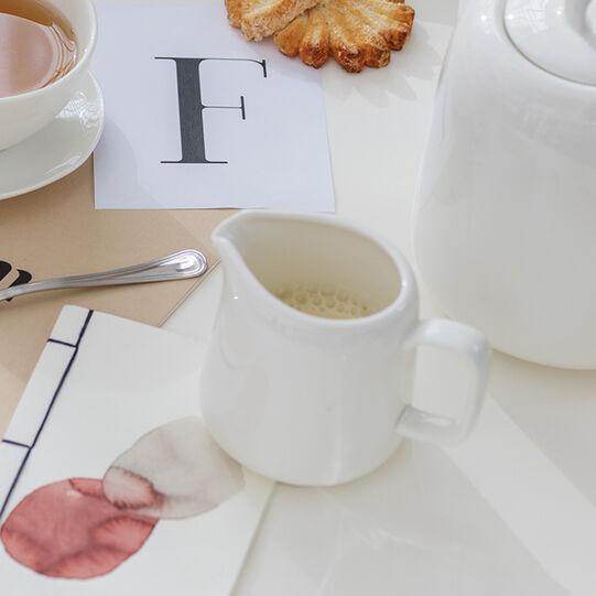 Milk jug in new bone china with hearts