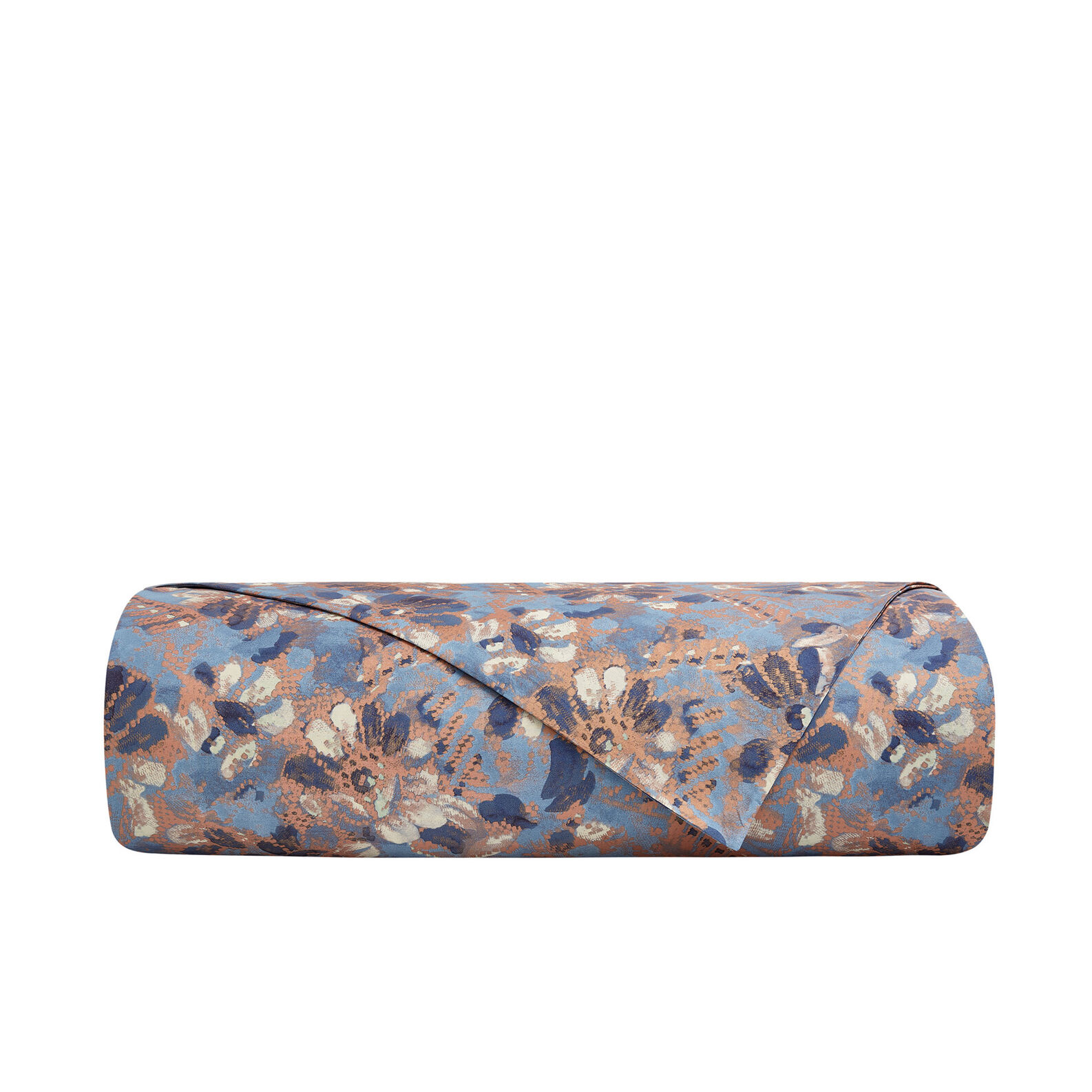 Flat sheet in organic cotton with floral pattern