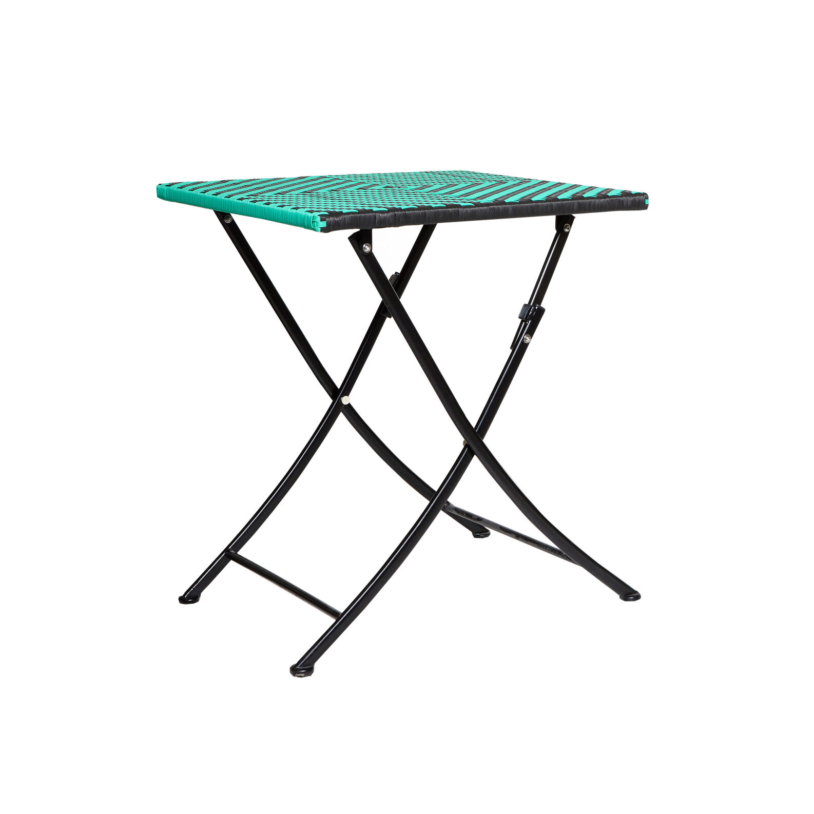 Playaparadiso folding table in polyrattan and aluminium