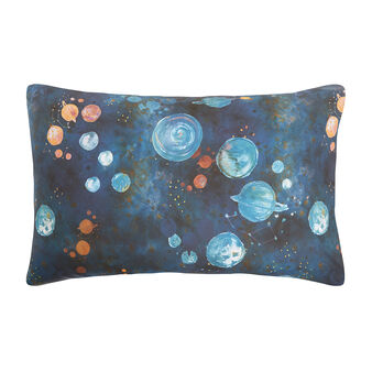 Pillowcase in cotton percale with universe pattern