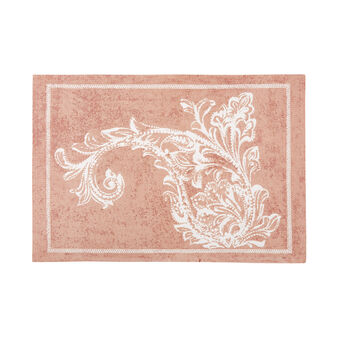 100% cotton table mat with maxi paisley print