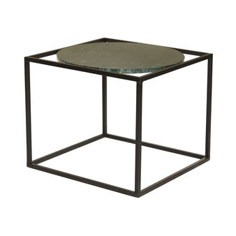 Cubrik coffee table in iron and marble