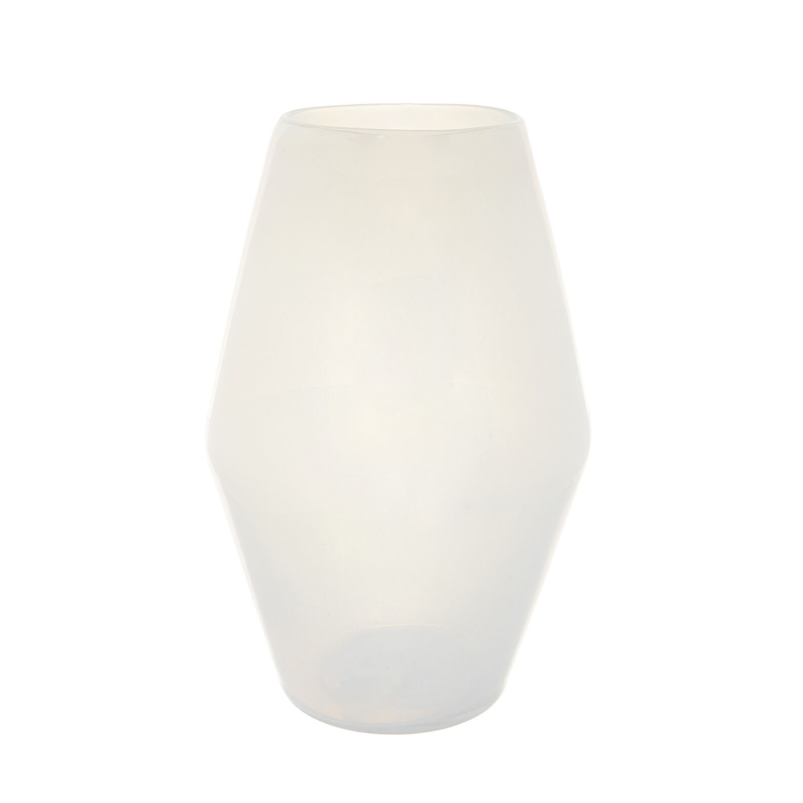 Coloured glass vase with milky effect
