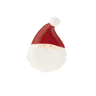 Small ceramic Father Christmas plate