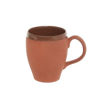 Opaque terracotta mug