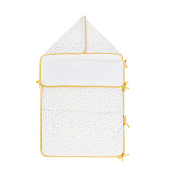 100% cotton percale baby sleeping bag with small triangles