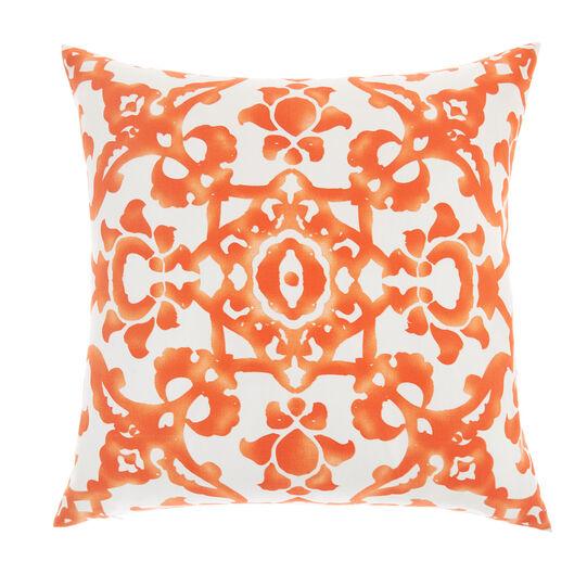 Watercolour print cushion