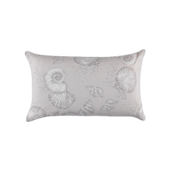 100% cotton cushion with shells print