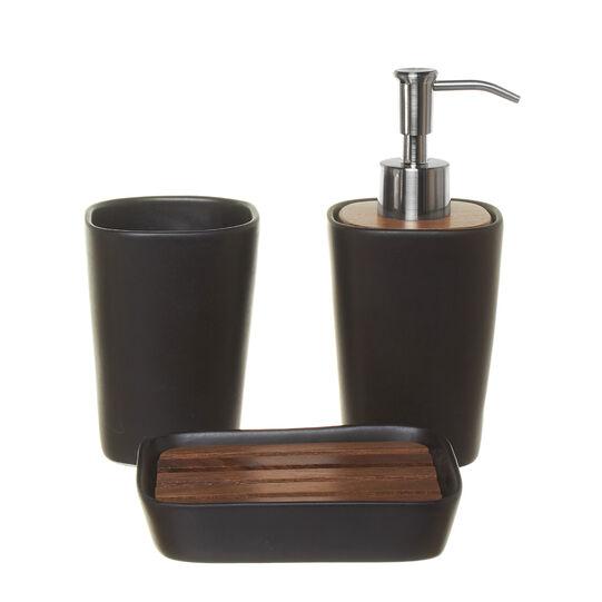 Dispenser ceramica e legno di noce Loft