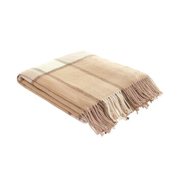 Check cotton blend throw