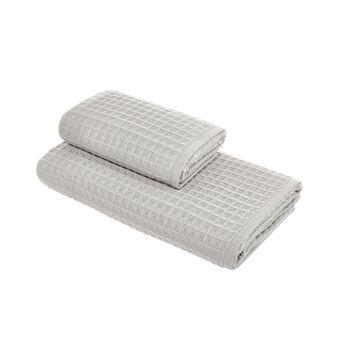 Set di asciugamani a nido d'ape in puro cotone
