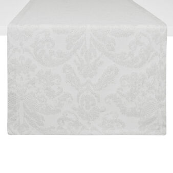 Damask cotton blend jacquard table runner