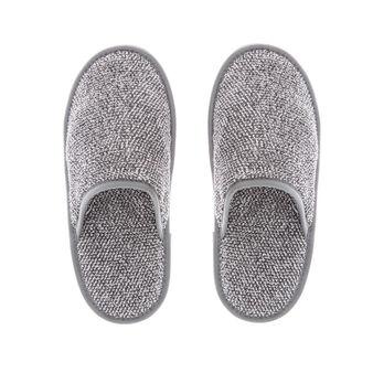 100% cotton mélange slippers