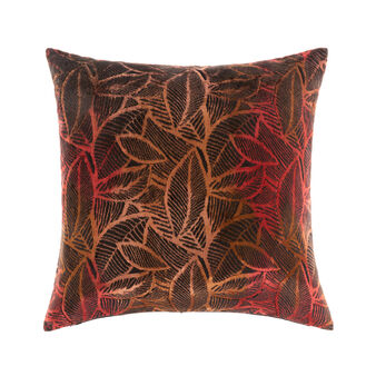 Velvet leaf cushion 50x50cm