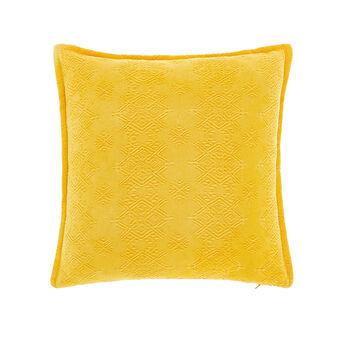 Solid colour piquet cushion