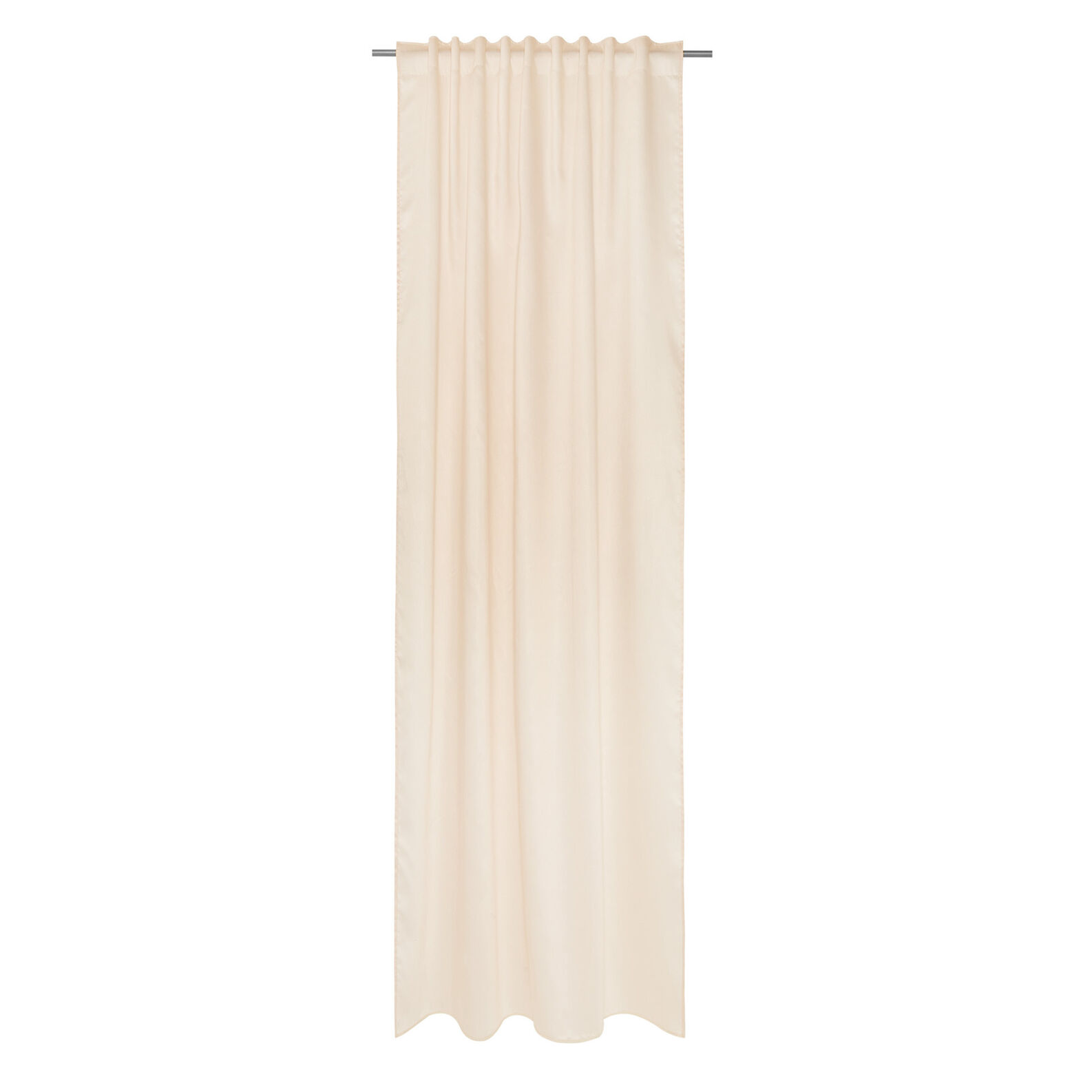 Solid color viscose curtain with hidden loops
