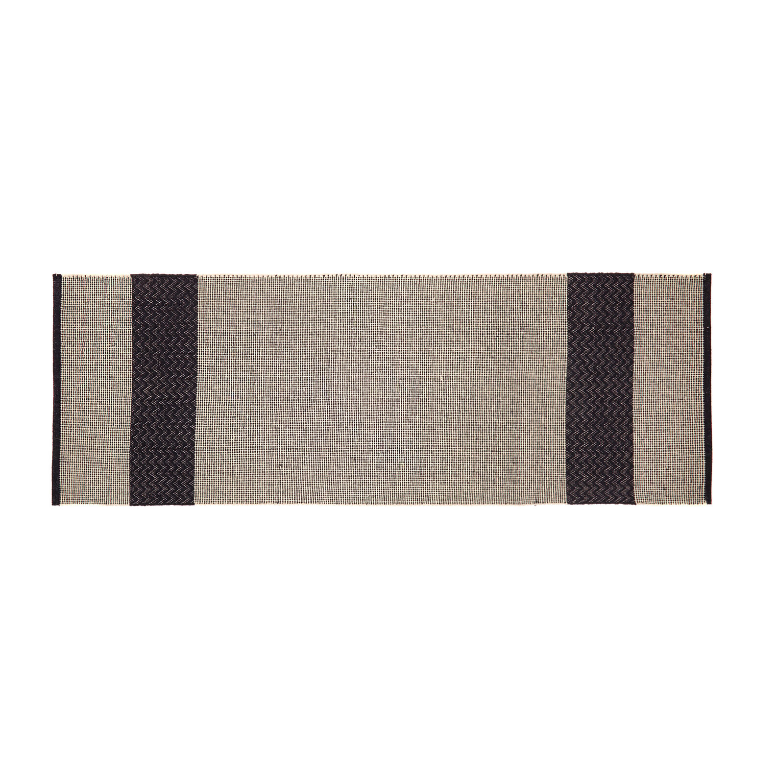 Cotton kitchen mat with jacquard weave