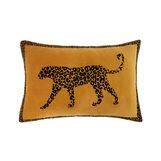 Cuscino velluto motivo leopardo