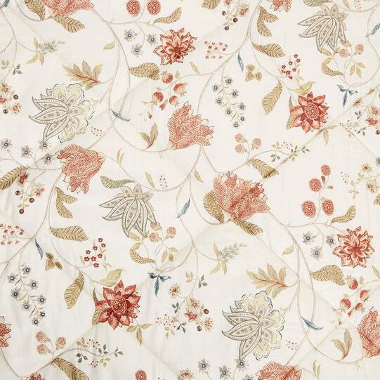 Trapunta raso di cotone fantasia floreale