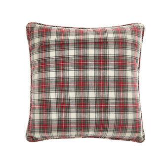 Tartan cotton cushion 45x45cm