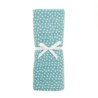100% cotton gauze towel with stars