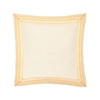 Cuscino cotone lavato ricami