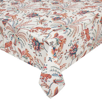 100% cotton tablecloth with cat print