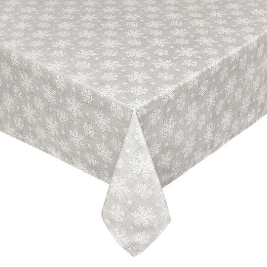 Tovaglia puro cotone stampa fiocchi di neve