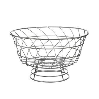 Chrome-plated steel wire basket