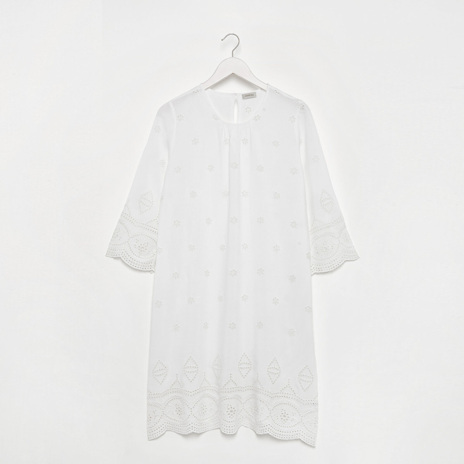 Broderie anglaise viscose dress