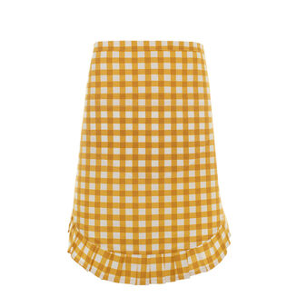 Waist apron in 100% cotton with checked print