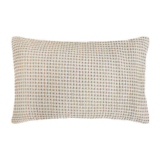 Yarn-dyed 100% cotton waffle-weave pillowcase